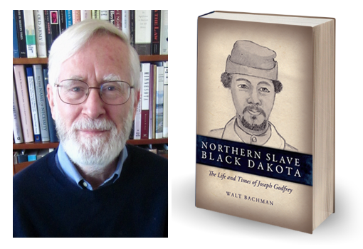 Image of author, Walt Bachman on left and his book on right.