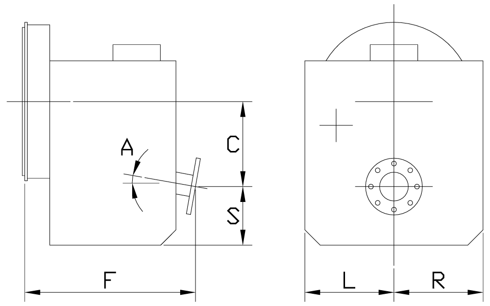 Vertical Offset Down Angle Dimensions