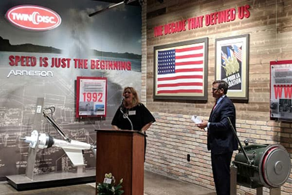 Twin Disc Unveils Heritage Gallery in Honor of 100th Anniversary