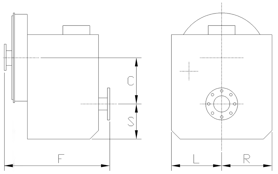 dimensions for MGE-5126SC Freestanding