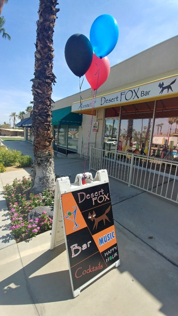Desert Fox Bar | Palm Desert San Pablo Ave
