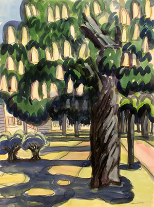 Chestnut Shadows, Linwood Ave by Catherine Burchfield Parker