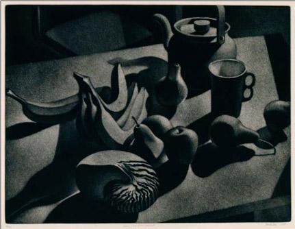 William Behnken - Aquatint - Still Life with Nautilus