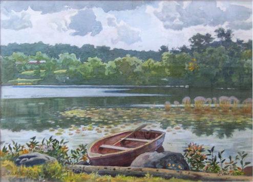 Olson - Watercolor - Boat on a Lake