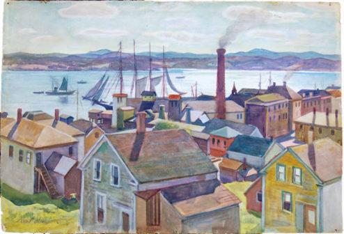 Olson - Watercolor - Eastport Harbor