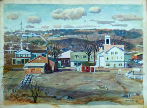 Olson - Watercolor - Mystic Seaport (Double-Sided Front)