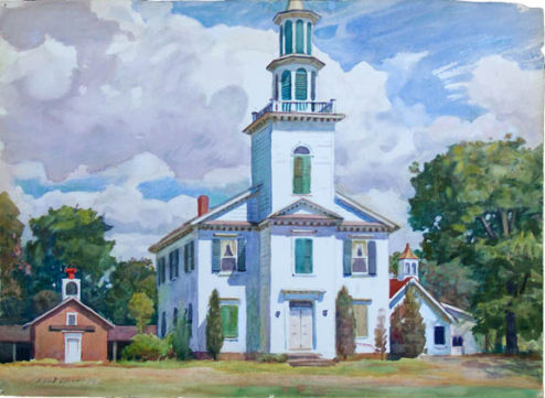 Olson - Watercolor - Provincetown Church