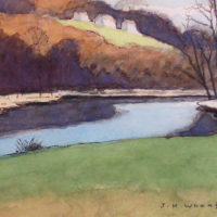 Wheater - Watercolor - Purple Trees and Shadows