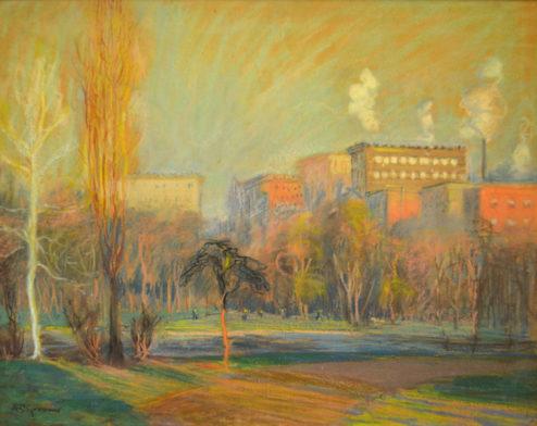 A. C. Goodwin - Pastel - Boston Common