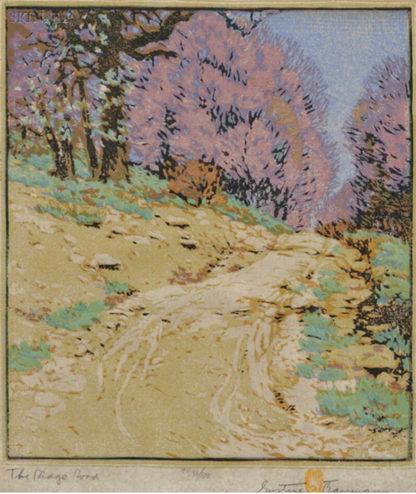 Gustave Baumann - Color Woodblock - The Ridge Road