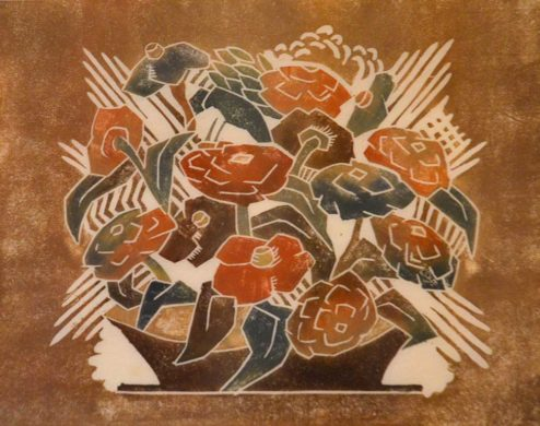 """Mullineux - Color Woodblock - """"Flowers"""""""