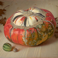 Alex Callaway - Painting - Improbability of a Turban Squash