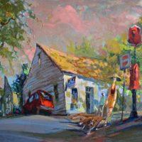 John Delaney - Oil Painting - India Street