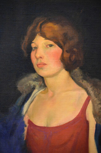 William Mitcheson Timlin - Detail Oil painting - Portrait of Miss McL.