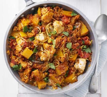 Squash, chicken & couscous one-pot