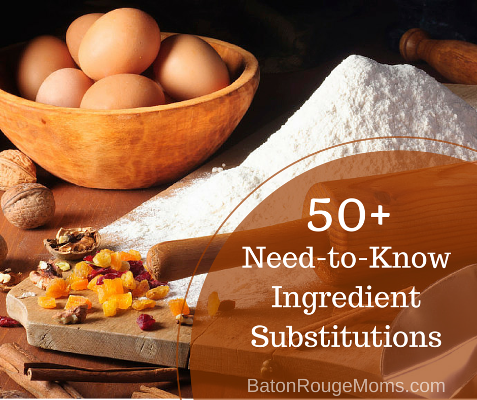 50 Ingredient Substitutions