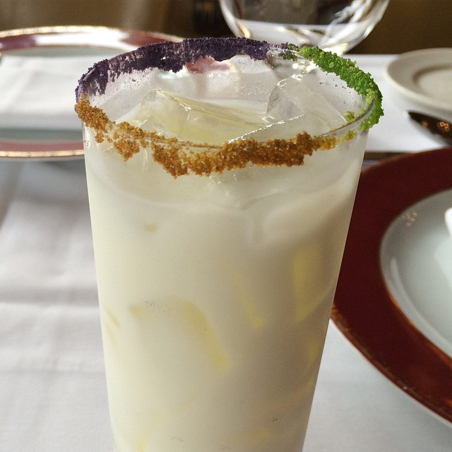 King Cake Horchata at Emeril's Delmonico