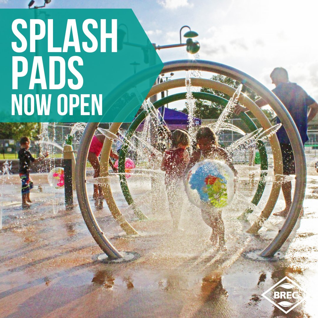 Baton Rouge Splash Pad Parks & Pools