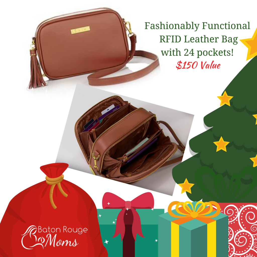 Fashionably Functional RFID Leather Bag - 24 Pockets {Valued at $150}