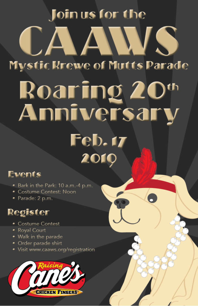 2019 CAAWS Mystic Krewe of Mutts Parade: The Roaring 20s