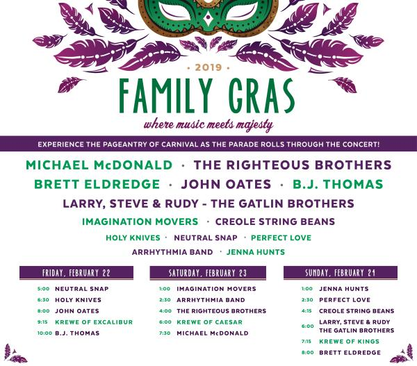 FAMILY GRAS IN JEFFERSON PARISH