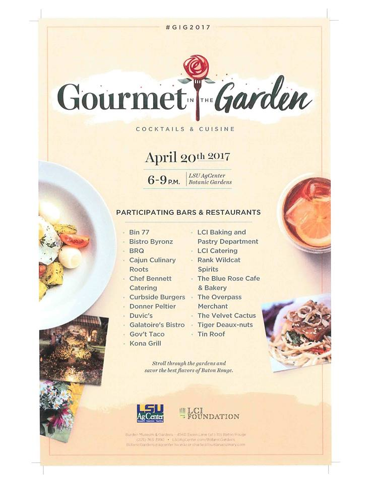 Gourmet in the Garden LSU AgCenter Botanic Gardens