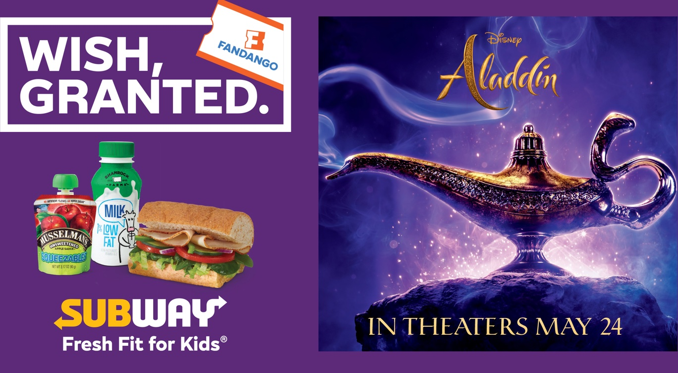Aladdin Movie Ticket