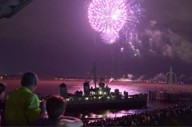 USS KIDD 4th of July