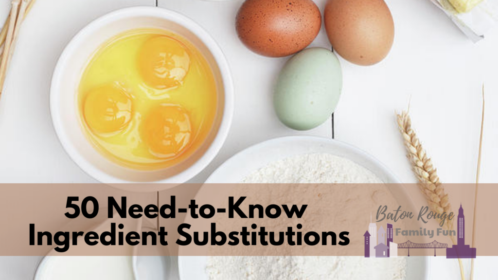 Need-to-Know Ingredient Substitutions