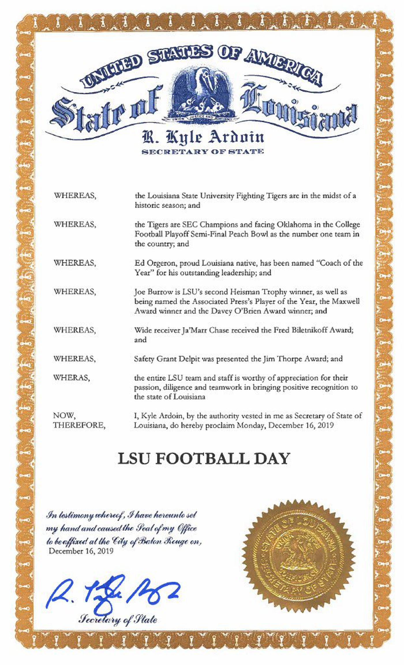 LSU Football Day