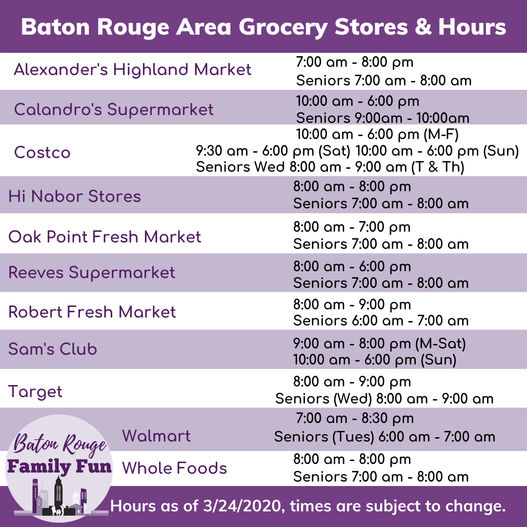 Grocery Shop in the Baton Rouge Area