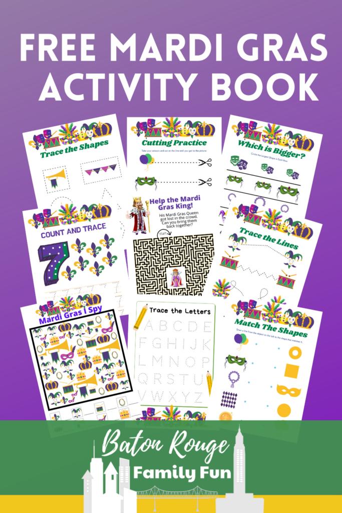 Mardi Gras Activity Book