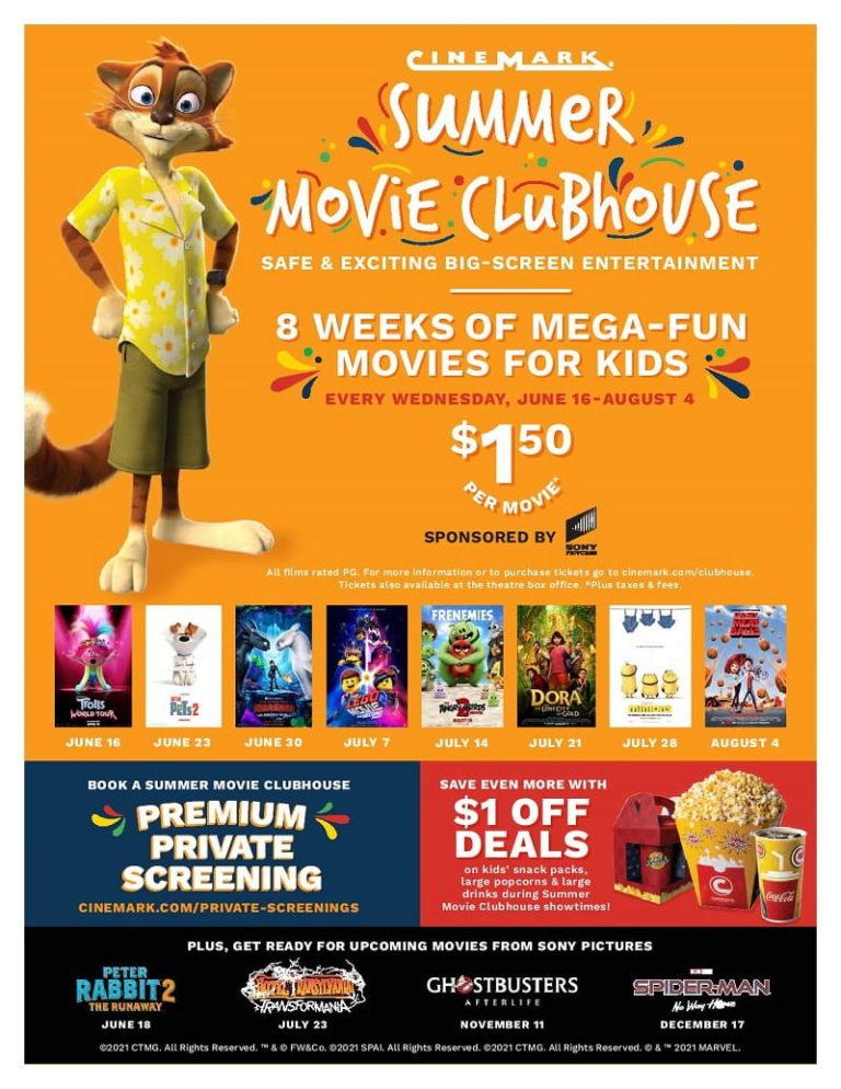 Cinemark Summer Movie Clubhouse