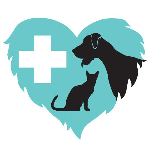 Airport Animal Hospital furry heart logo