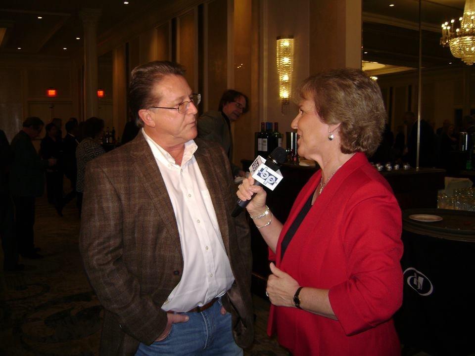 Host Gary Hendler being interviewed by Reporter Kathy Gandolfo