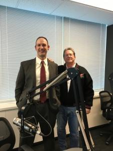 Lower Merion Detective , Joseph Hunsicker and Gary Hendler at the Studio