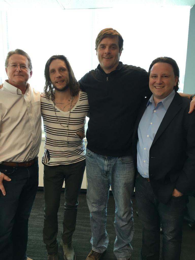 "Gary Hendler, Jack Ass Star Brandon Novak and Dave Bontempo at the ""Clean And Sober"" studio"