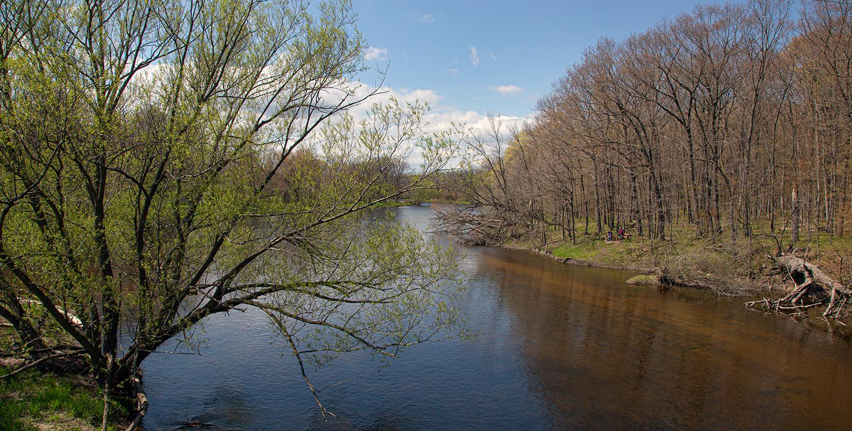 Milwaukee River at Bratt Woods