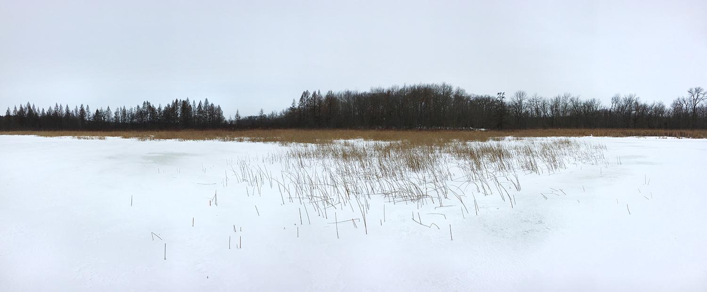 Beck Lake panorama in winter