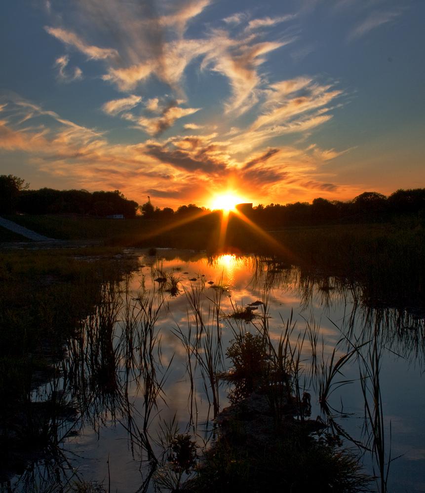 Sunset, Milwaukee County Grounds, Wauwatosa