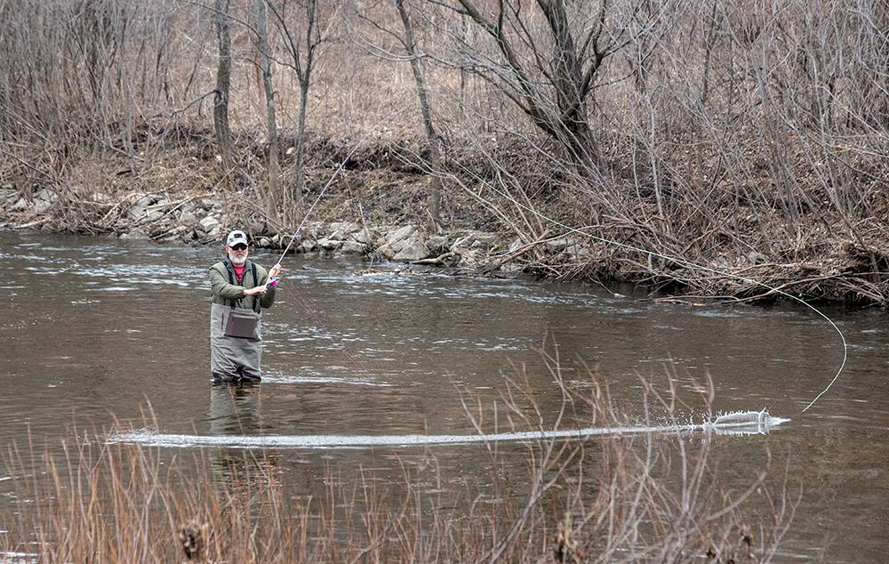 Fishing in the Menomonee River
