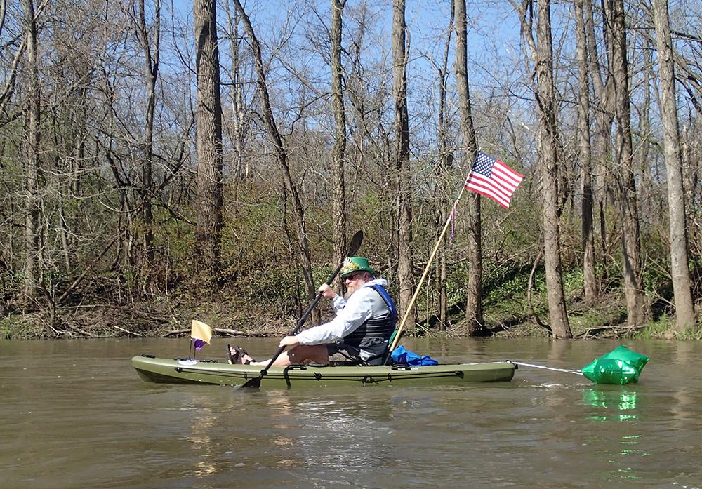 The Irishman in a kayak