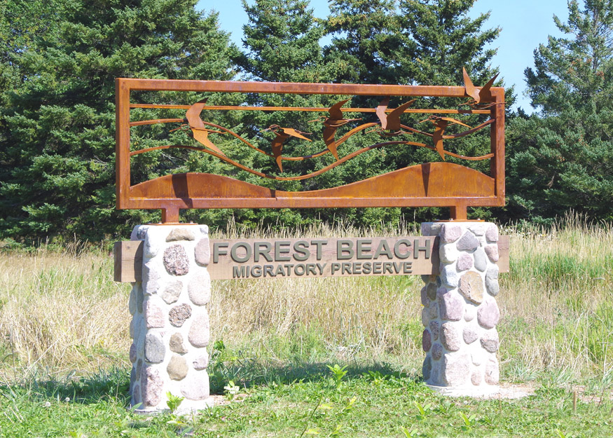 Forest Beach Migratory Preserve entrance sign