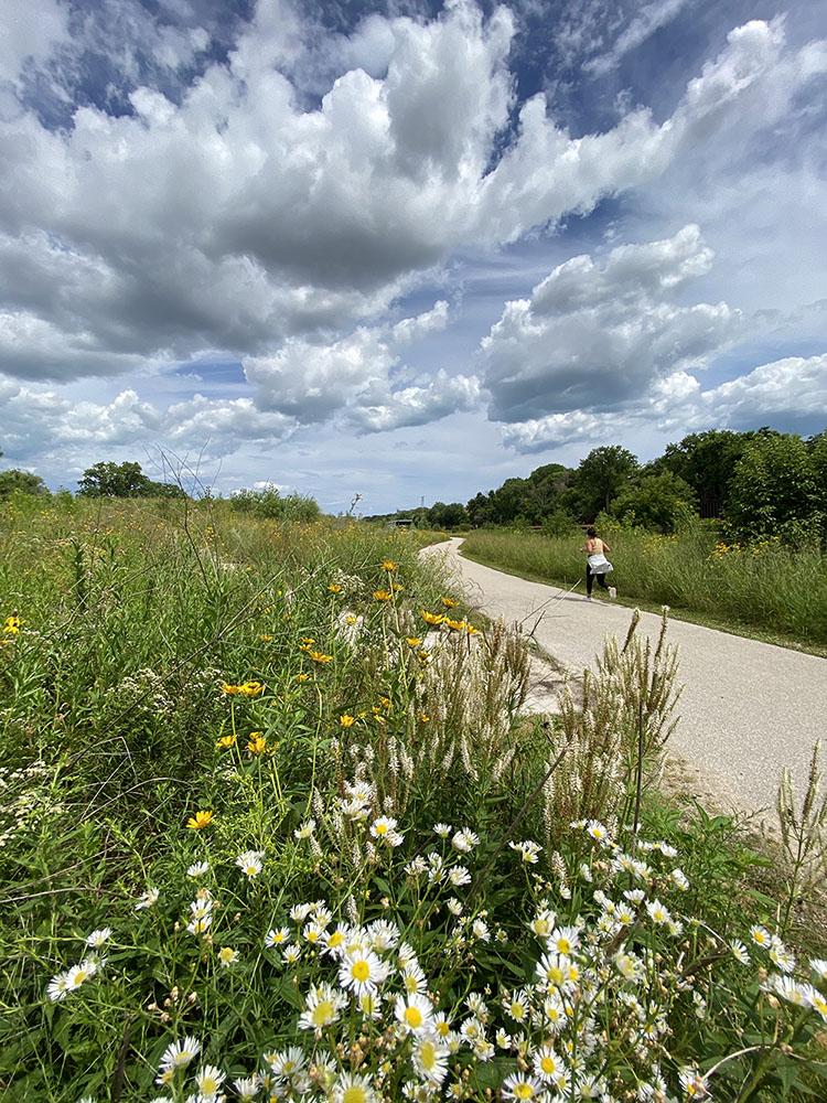 The Hank Aaron State Trail runs through Three Bridges Park