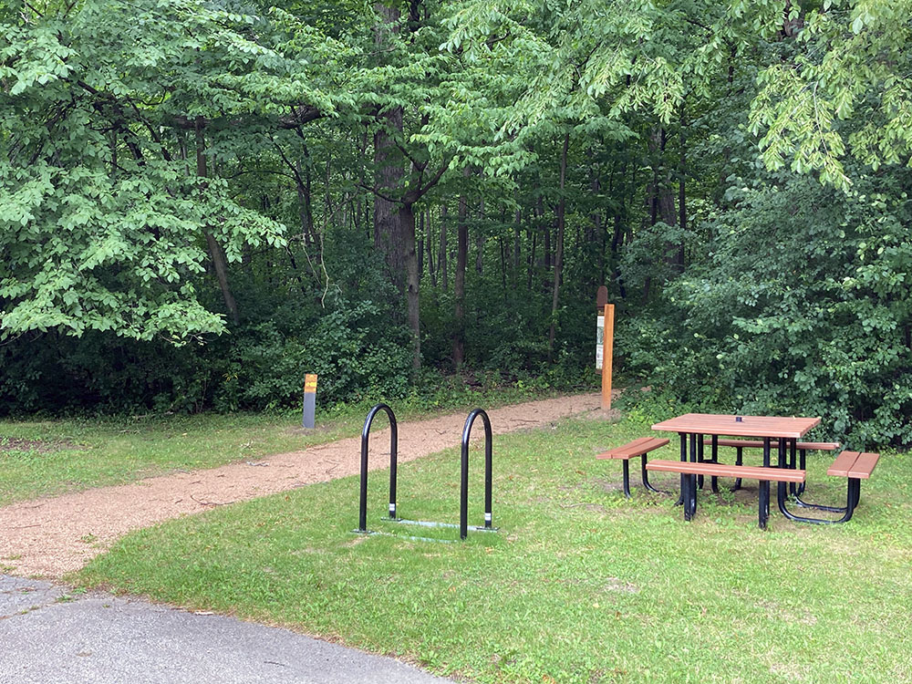 Accessible Entrance with bike racks at Wil-o-way Underwood