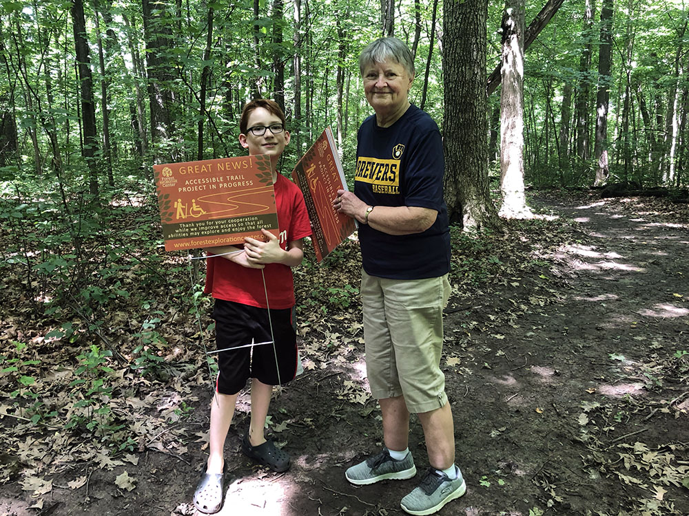 Stewards help bring awareness to improved trail access