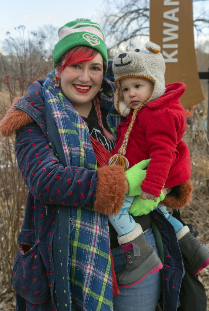 I met Mary and her color-coordinated son at RRF's Woolly Bear Fest in February