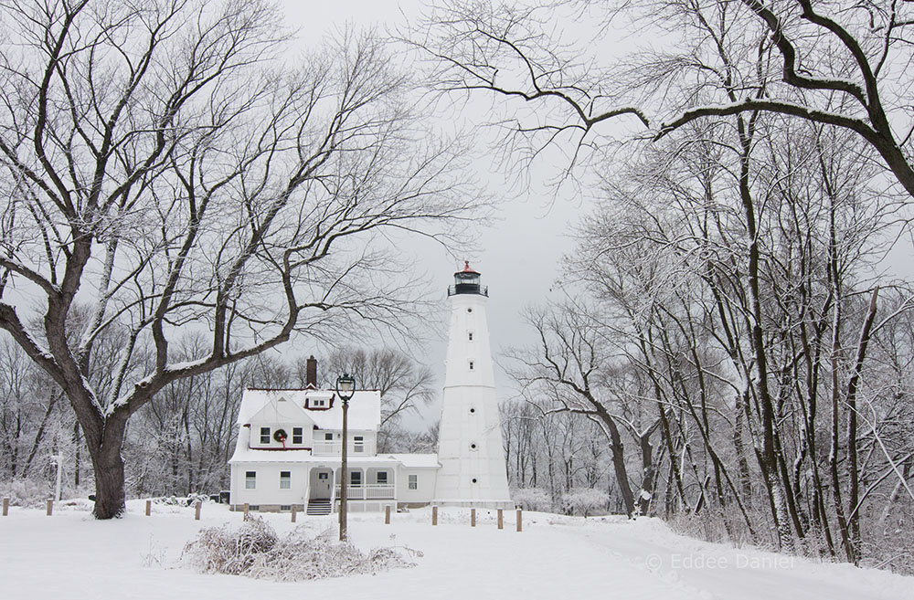 Although our tour didn't get this far, the North Point Lighthouse is a major Lake Park attraction.