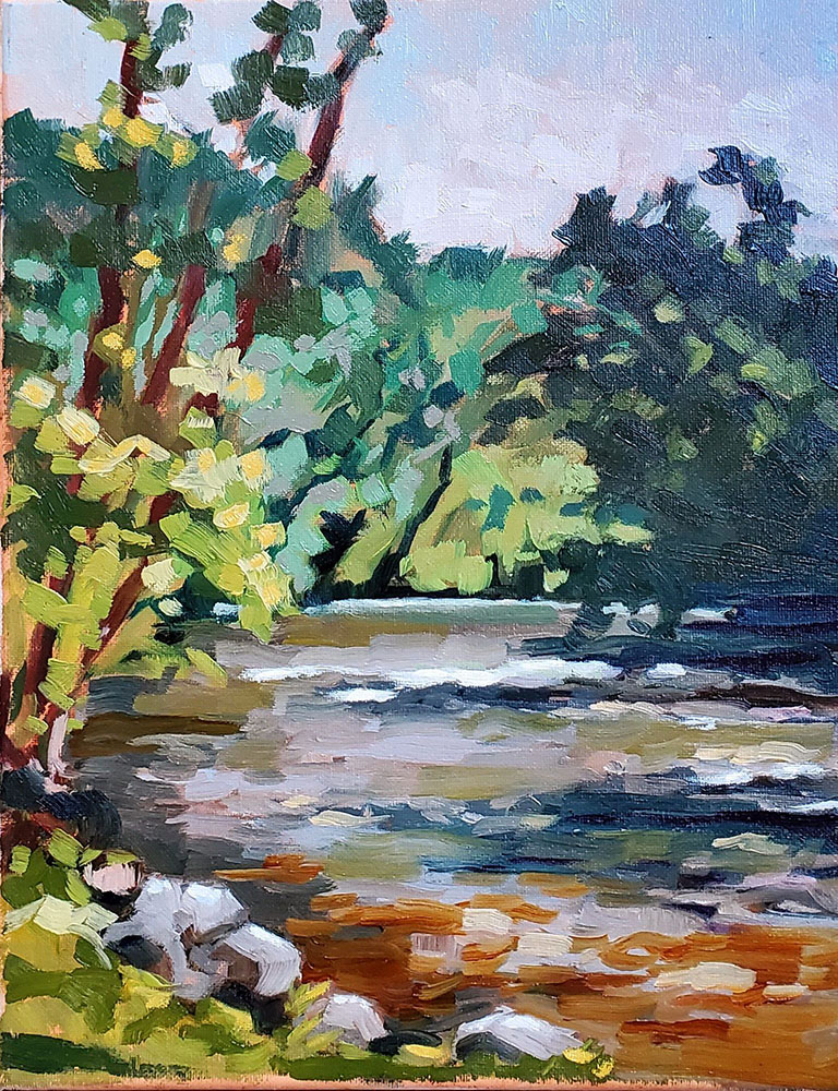 """""""Another Perfect Day."""" Painted at Lime Kiln Park in Grafton, WI."""