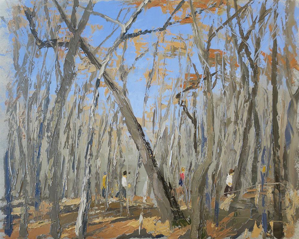 Fitzsimmons, Autumn, People Sighting. 8x10. 2020.
